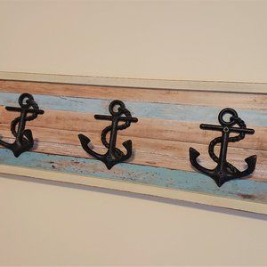 Pier1 Decorative Wall Mount Hooks /Coat Rack Ocean